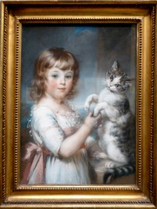 Tate Russell boy and cat