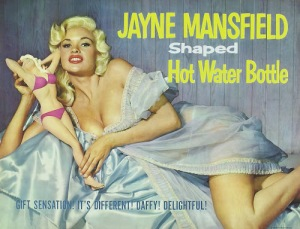 Jayne Mansfield, Hollywood, blonde, pin-up, hot water bottle