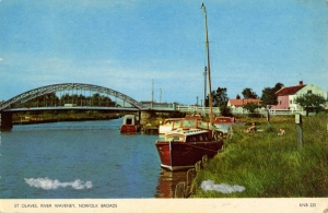 A riverside scene