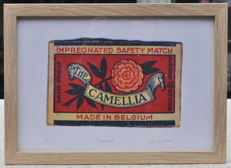 camellia, match, matchbox