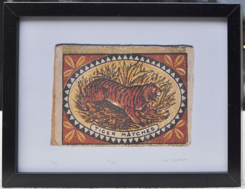 tiger, match, matchbox
