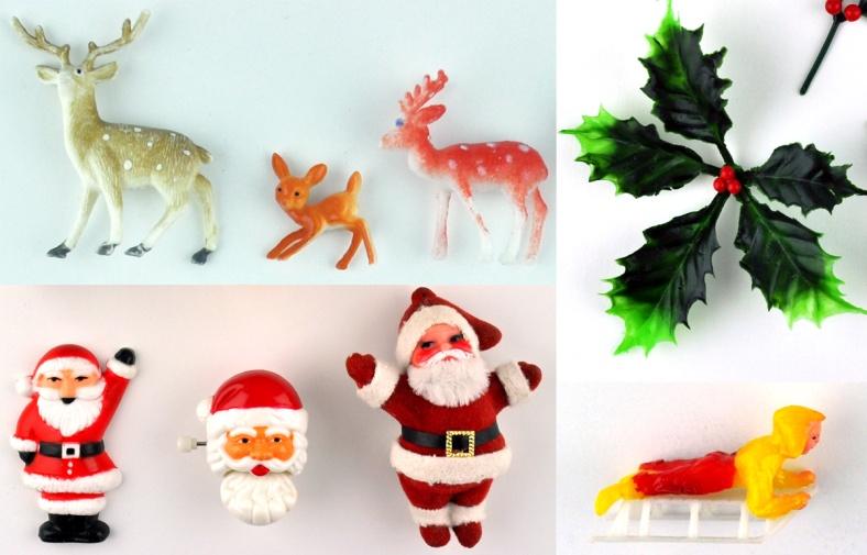 Deer Holly Santas Sledge