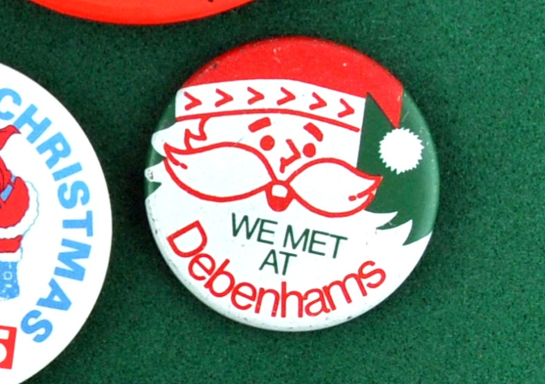 Christmas pin badge